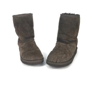 Ugg Womens Short Boots Booties Ankle Size 5 Brown
